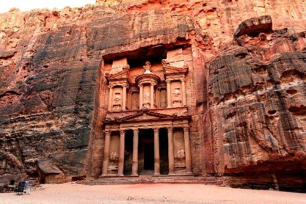 Pétra , Antiche rovine a Petra, Giordania , Giordania