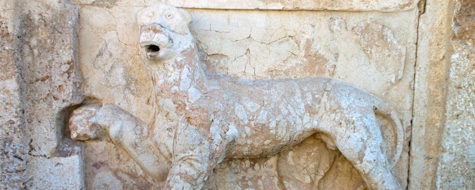 Vistas panorámicas del castillo de Iraq el Am, El castillo de Iraq el Amir, Los monumentos, Jordania