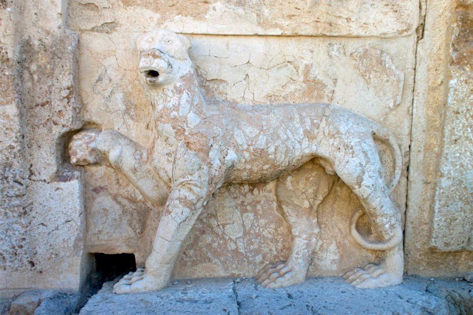 Vue panoramique du château d'Iraq el Amir, Le château d'Iraq el Amir, Les monuments, Jordanie