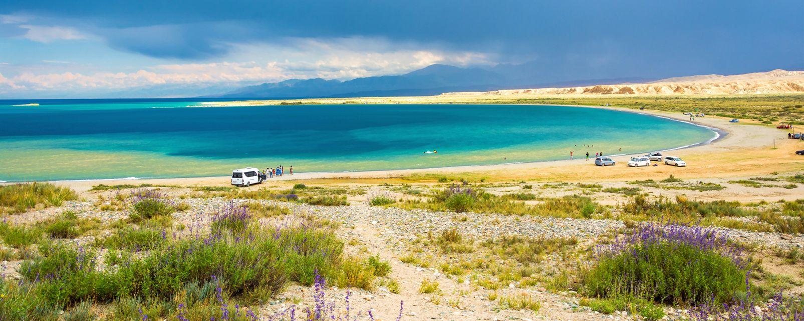 Le lac Issyk-Koul, Les paysages, Kirghizstan