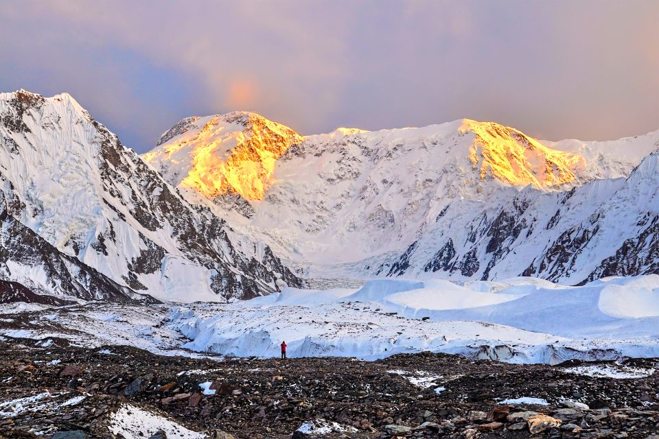 , El glaciar de Inylchek, Los paisajes, Kirguistán