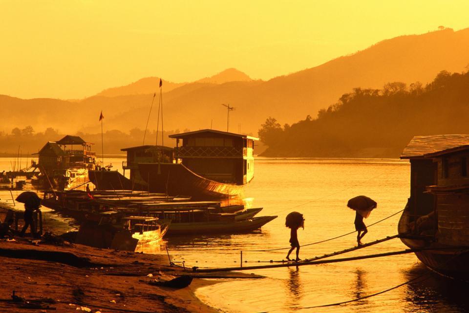 Der Flusstal des Mekong , Der Mekong , Laos