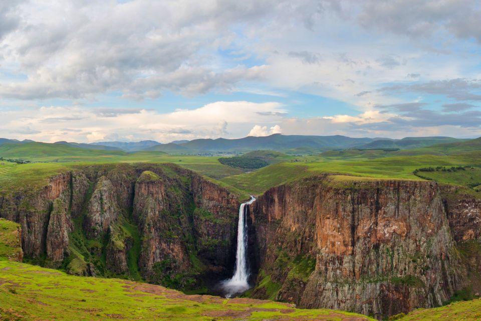 Les paysages, Lesotho, afrique, highlands, gouffre, montagne, canyon, Maletsunyane, rivière, chute, cascade