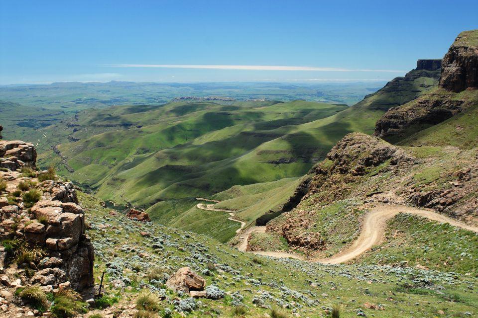 Les paysages, Lesotho, afrique, highlands, Sani Pass, sani, gouffre, montagne