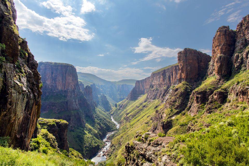 Les paysages, Lesotho, afrique, highlands, gouffre, montagne, canyon, Maletsunyane, rivière