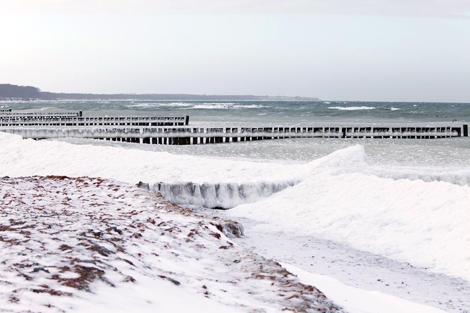 La località balneare di Jurmala , Jurmala d'inverno , Lettonia