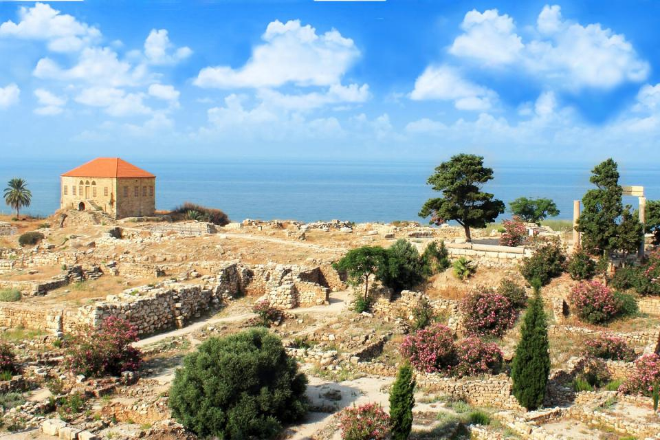 Seaside resorts , Byblos beach , Lebanon