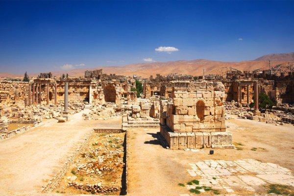 Le site de Baalbek , Le temple de Jupiter , Liban