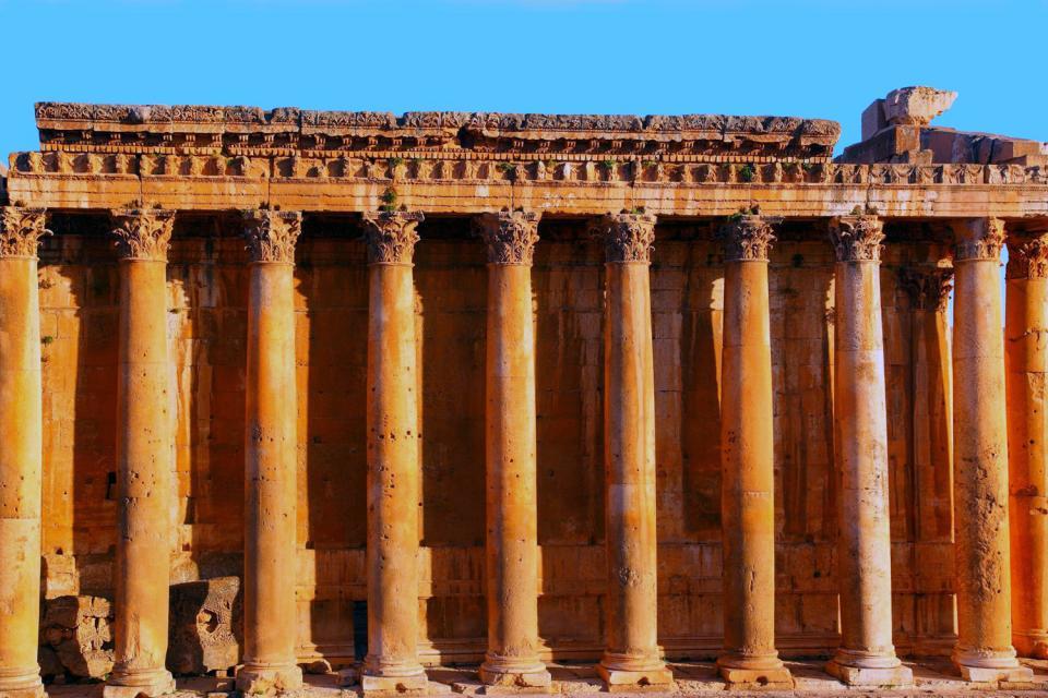 Le site de Baalbek , Liban