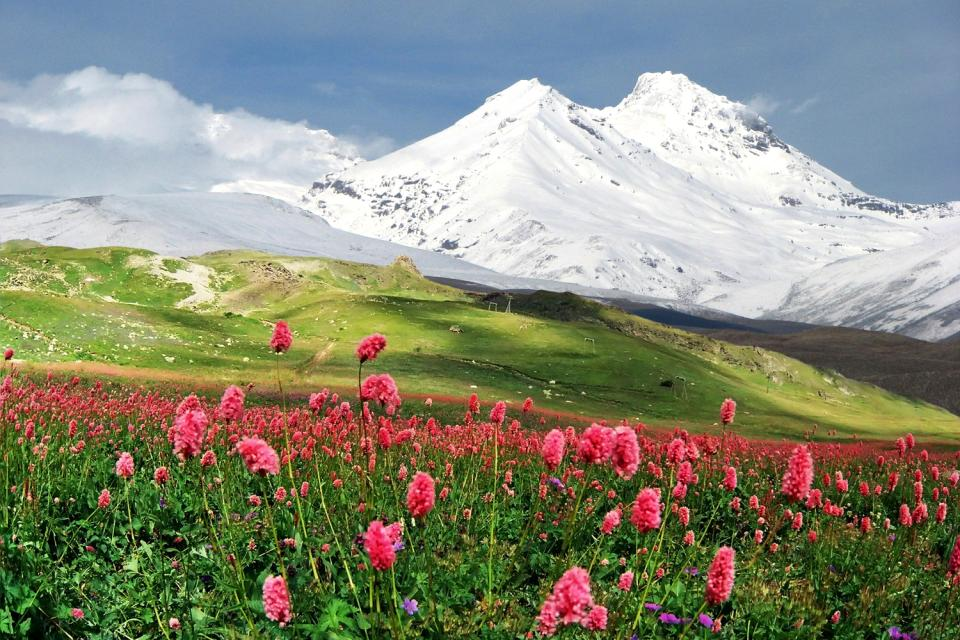 The mountains , Typical Caucasian landscape, Armenia , Armenia