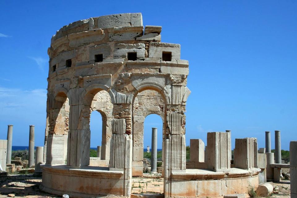 Le site de Leptis Magna , Libye
