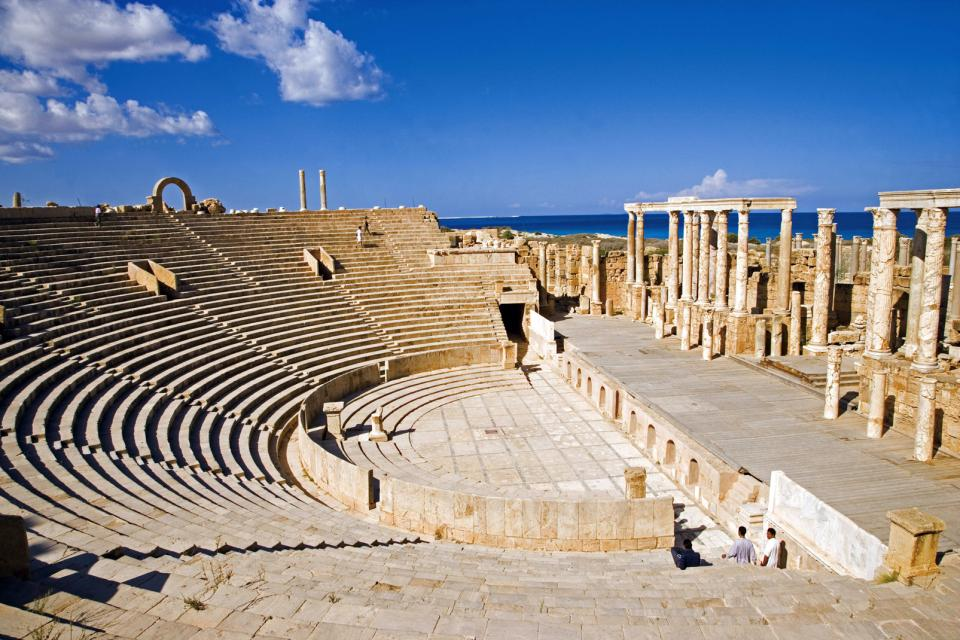 Le site de Leptis Magna , Le site de Leptis Magna, Lybie , Libye