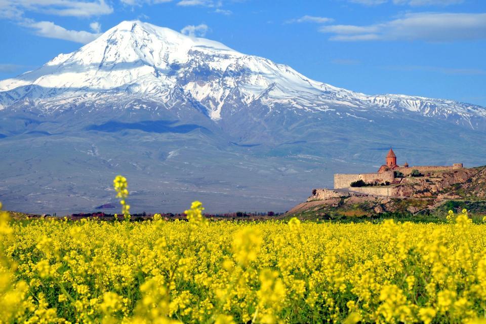 Das Ararat-Tal , Das Kloster Khor Virap, Armenien , Armenien