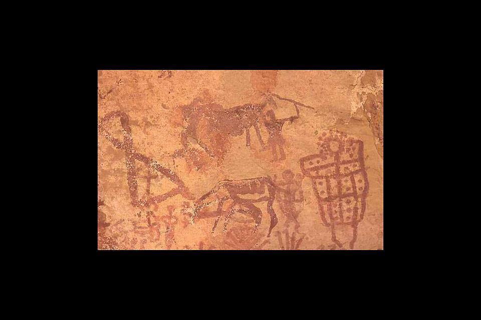 Les peintures rupestres du Fezzan , Fezzan, Libye: les peintures rupestres , Libye