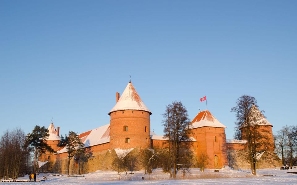 The Trakai historical Park , The castle of Trakai , Lithuania