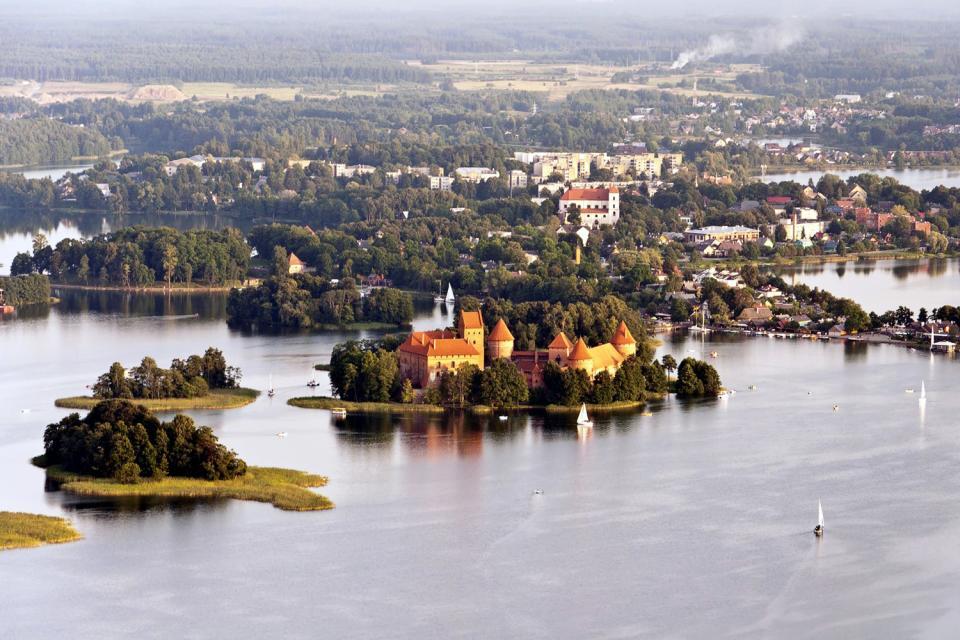 The Trakai historical Park , The castles of Trakai , Lithuania