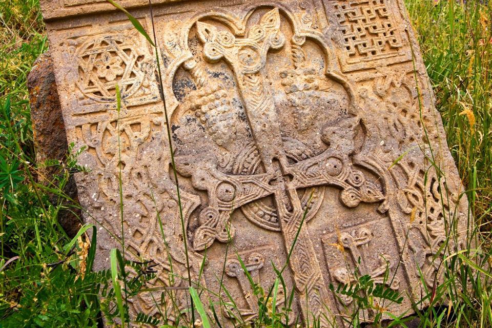 Die Skulpturen , Khatchkar, Armenien , Armenien