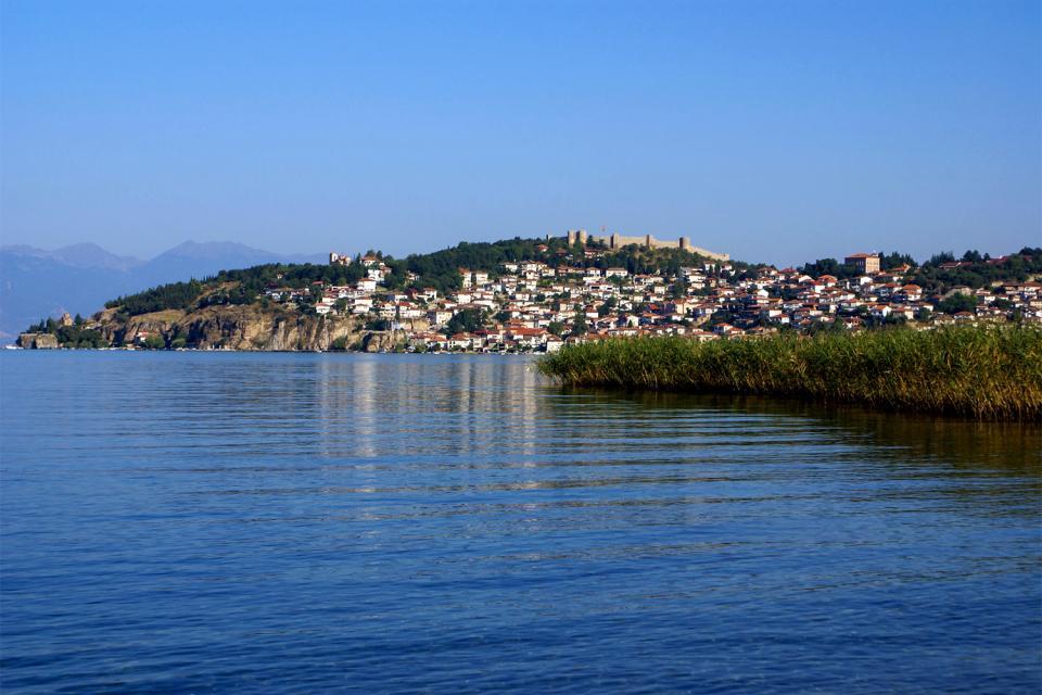 Der See von Ohrid , Ohrid, der älteste See , Mazedonien