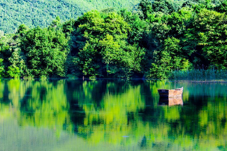 Der See von Ohrid , Mazedonien