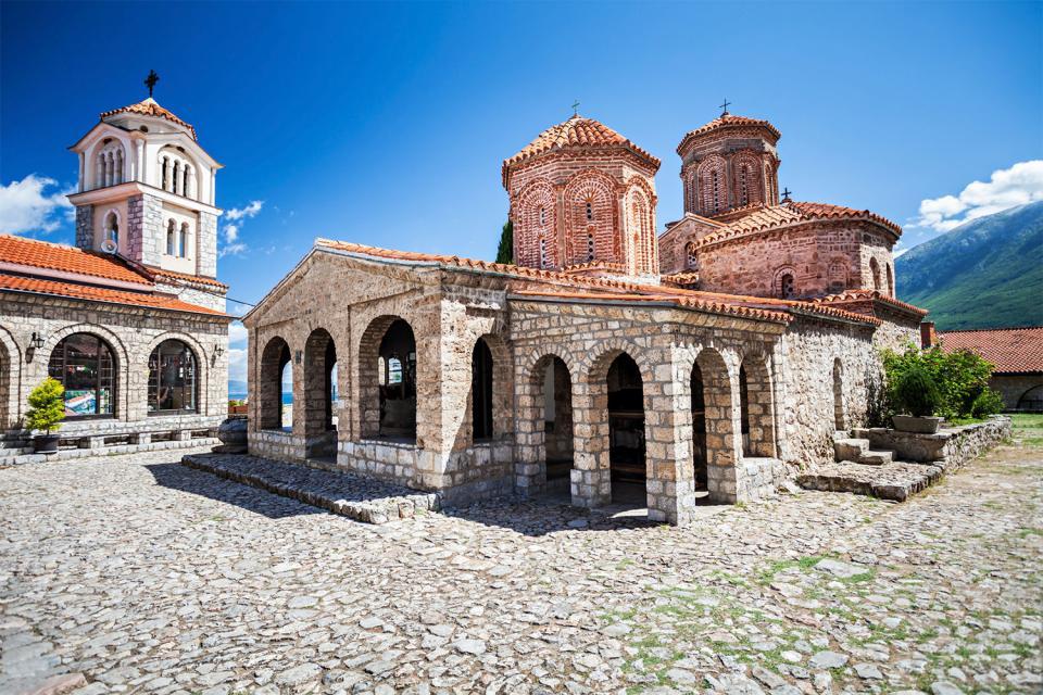 El monasterio de San Naum , Macedonia
