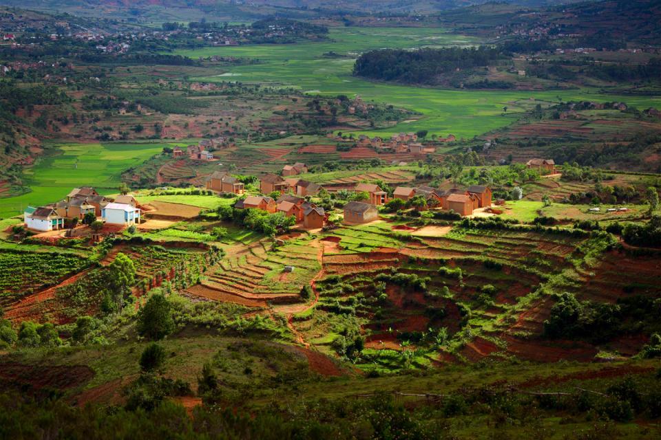"The high plateaux , The ""hauts plateaux"" , Madagascar"