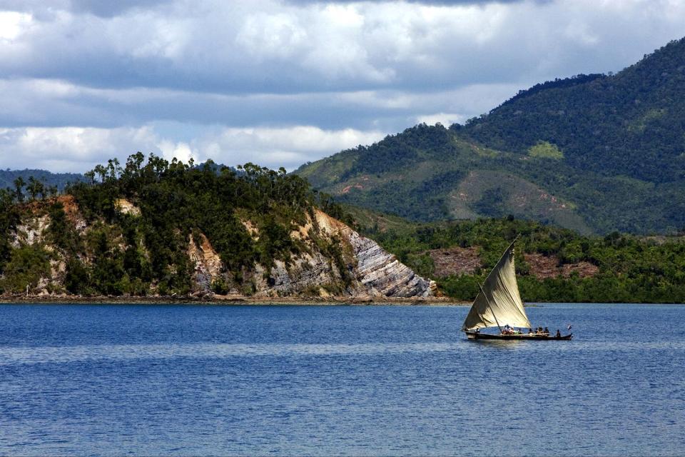La isla de Nosy Be , Madagascar