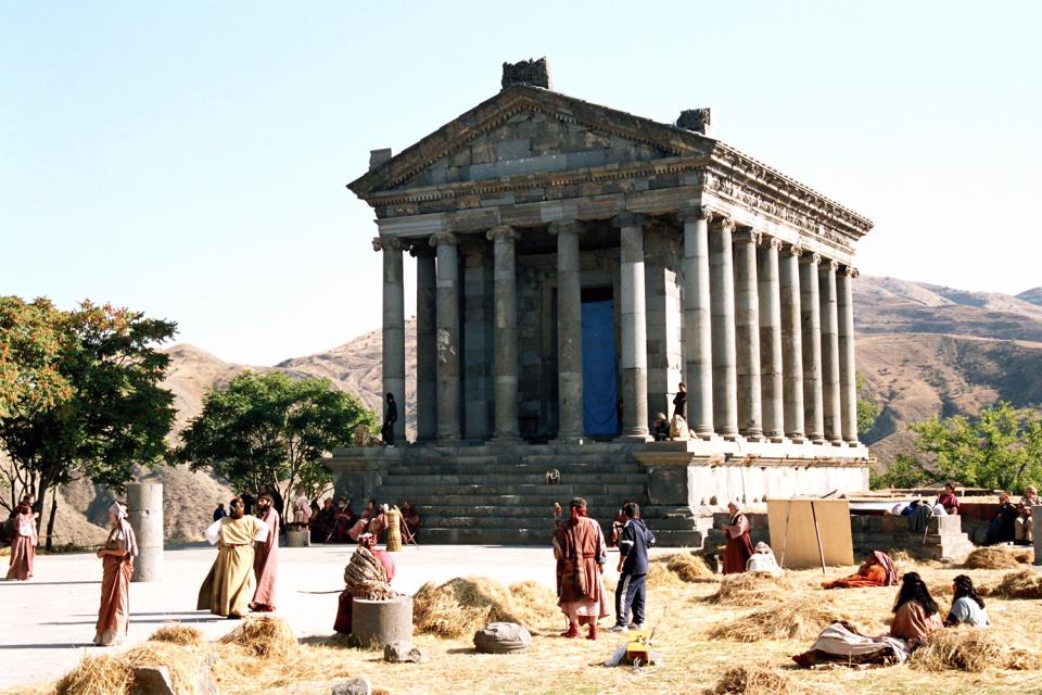 The temple of Garni , Armenia