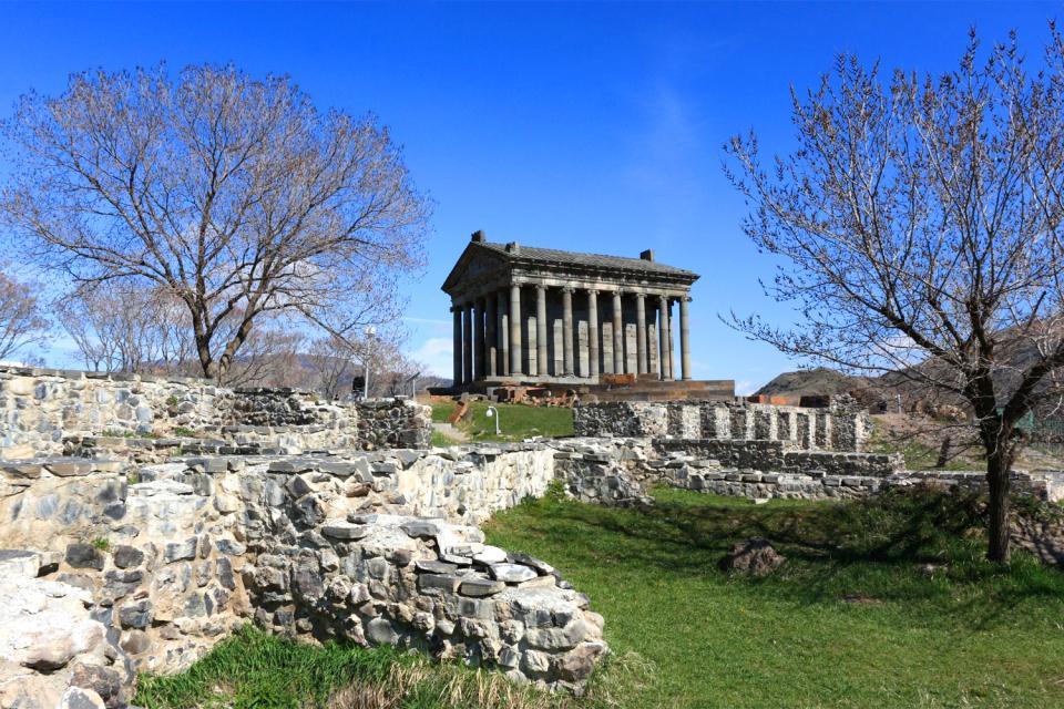 Der Tempel von Garni. , Heidnischer Tempel, Armenien , Armenien