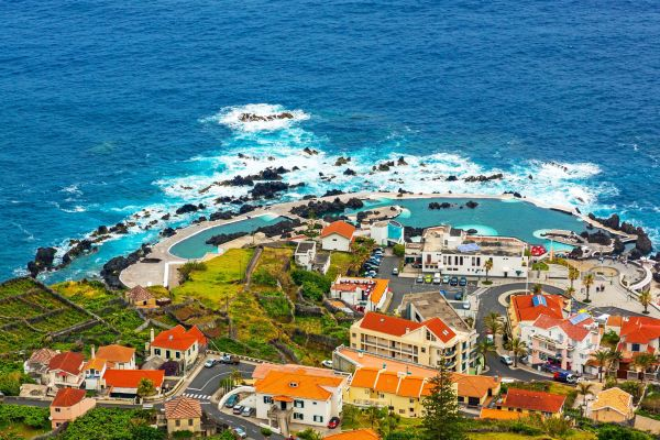 The natural swimming pools of Porto Moniz , Refreshing swims , Portugal