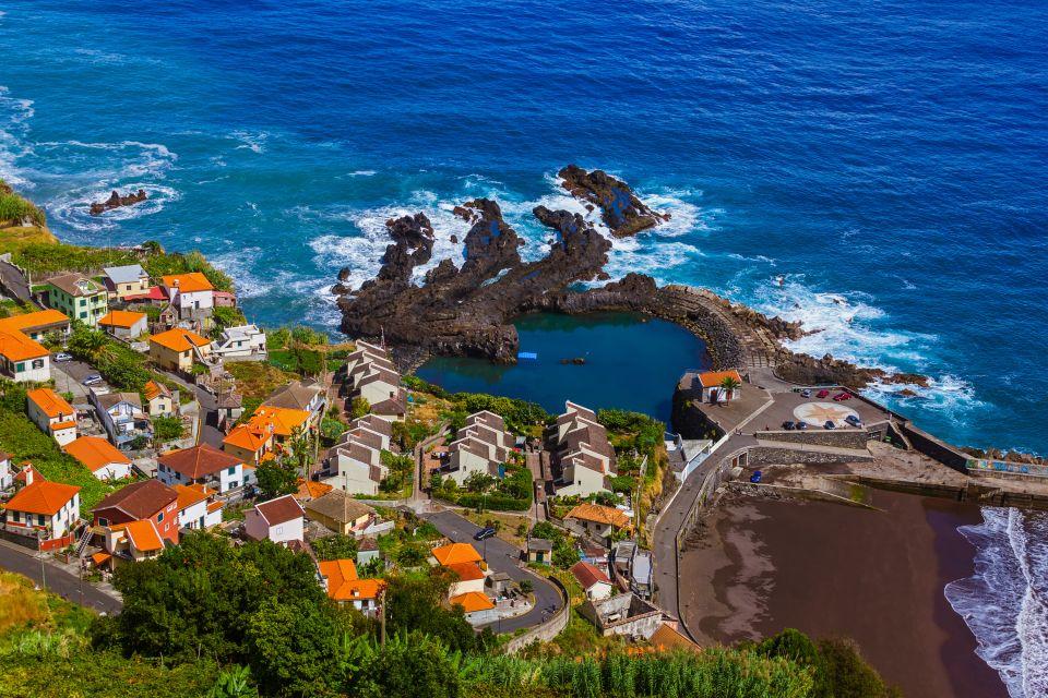 Les côtes, madeira, ponta, delgada, boaventura, sao, vicente, seixal, porto, moniz, madère, portugal, piscine
