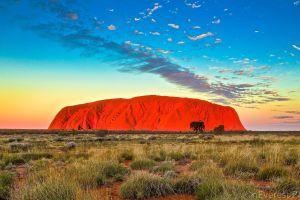 Das Rote Zentrum, Ayers Rock, das Nordterritorium , Ayers Rock , Australien