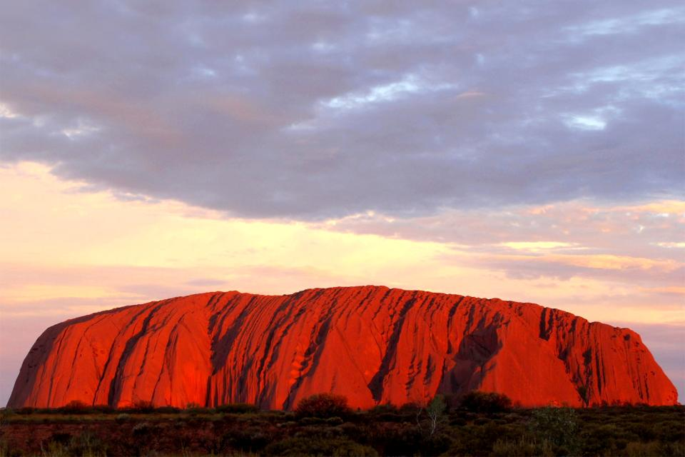 The Red Centre, Ayers Rock, the Northern territory , Uluru from above, Australia , Australia