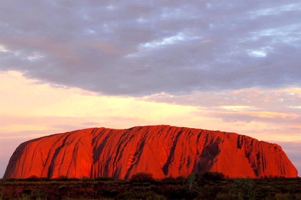 Das Rote Zentrum, Ayers Rock, das Nordterritorium , Uluru , Australien