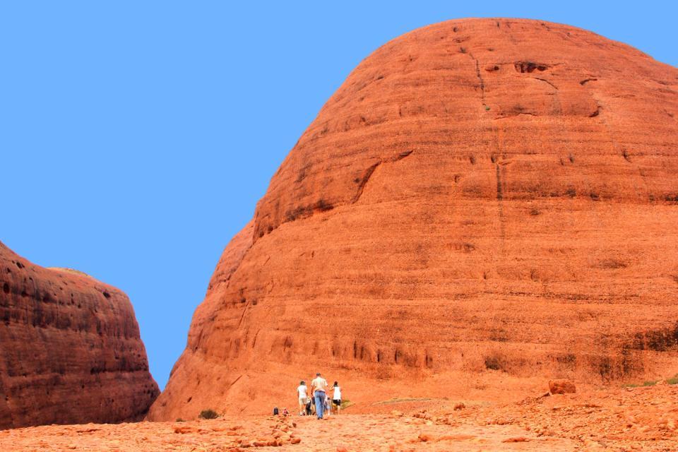 Das Rote Zentrum, Ayers Rock, das Nordterritorium , Wanderung zum Red Centre , Australien