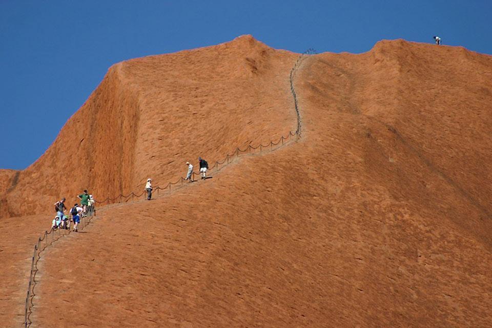 Das Rote Zentrum, Ayers Rock, das Nordterritorium , Aufstieg zum Ayers Rock , Australien