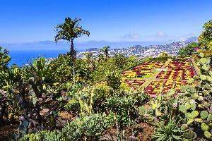 Der botanische Garten von Funchal , Im Land der Blumen , Portugal
