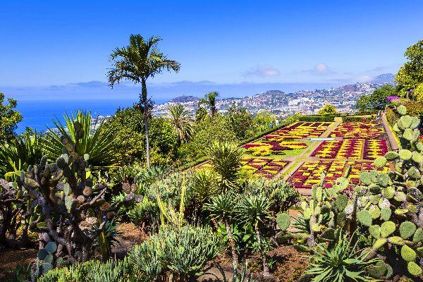 El jardín botánico de Funchal , En el país de las flores , Portugal
