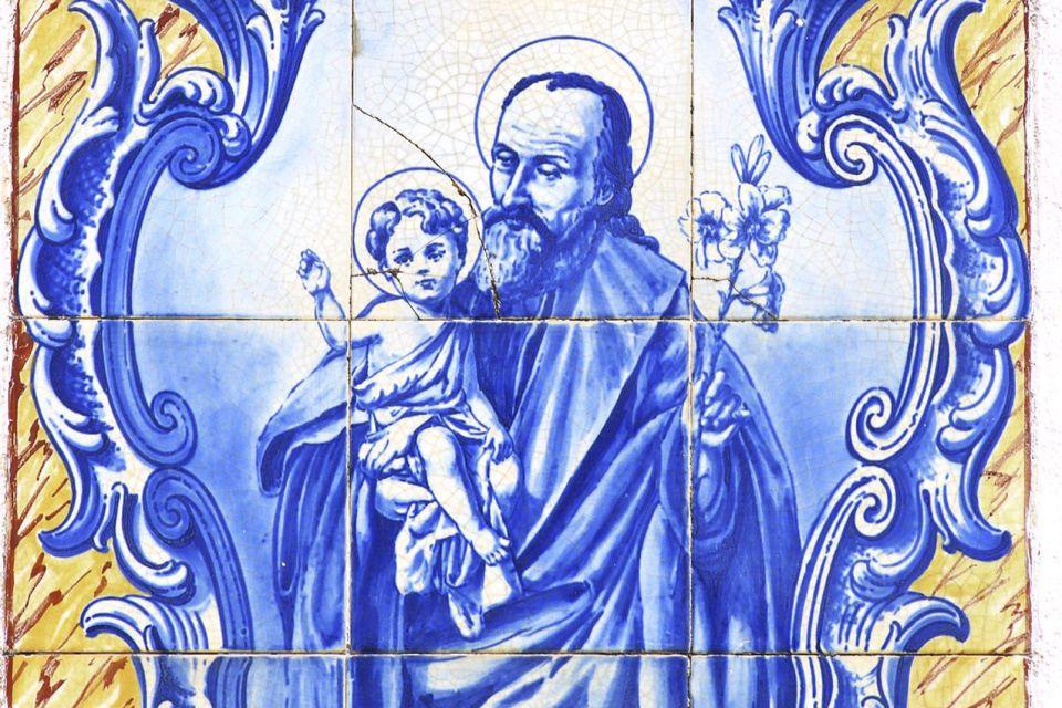 Représentation de Saint Joseph, Les azulejos, Les arts et la culture, Madère