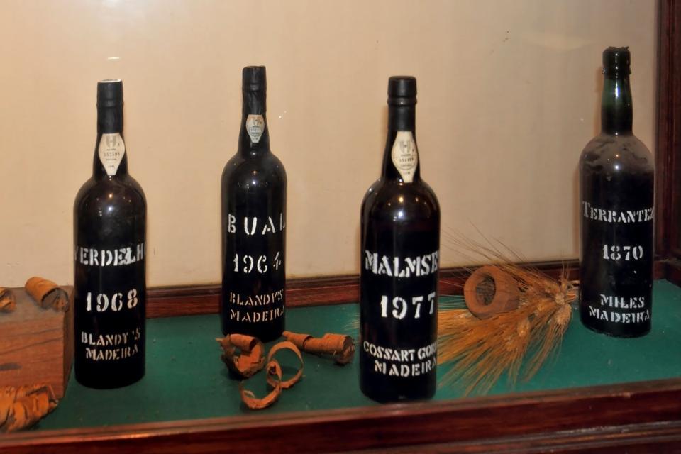 El vino de Madeira , Portugal