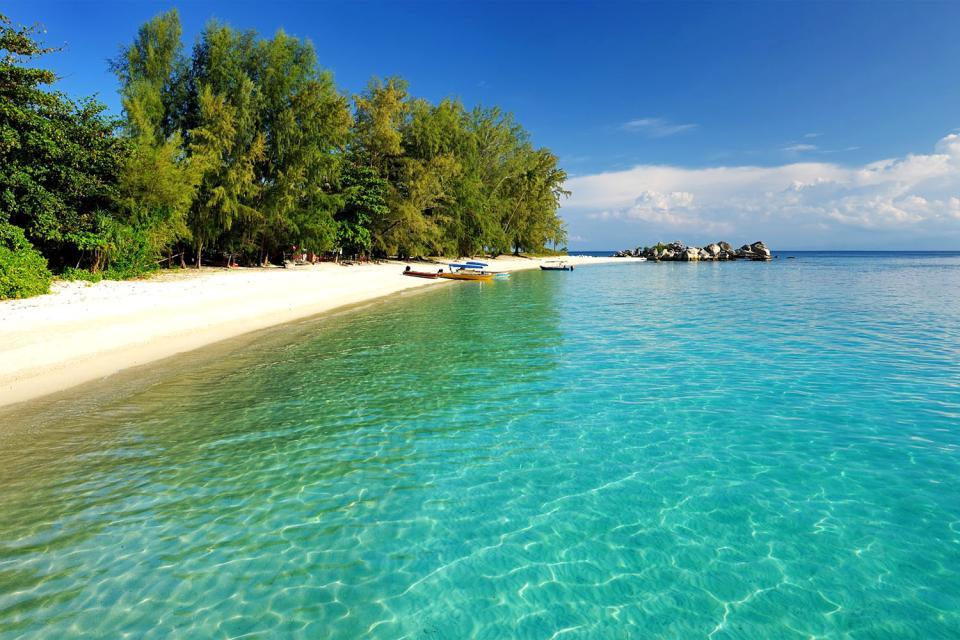 Las islas Perhentian , Las dos islas principales , Malasia