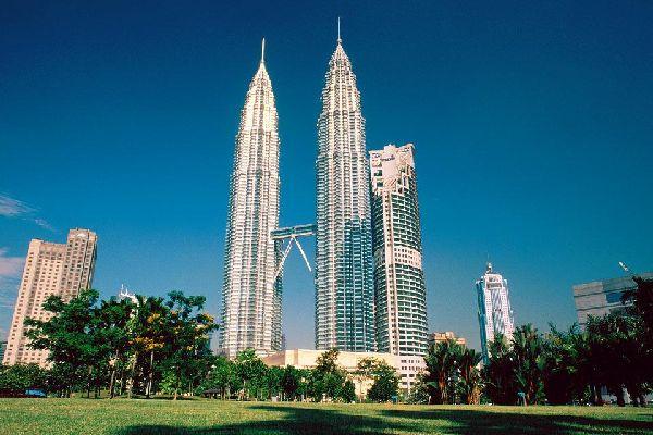 Die Petronas , Türme , Die Petronas-Towers, Kuala Lumpur , Malaysia