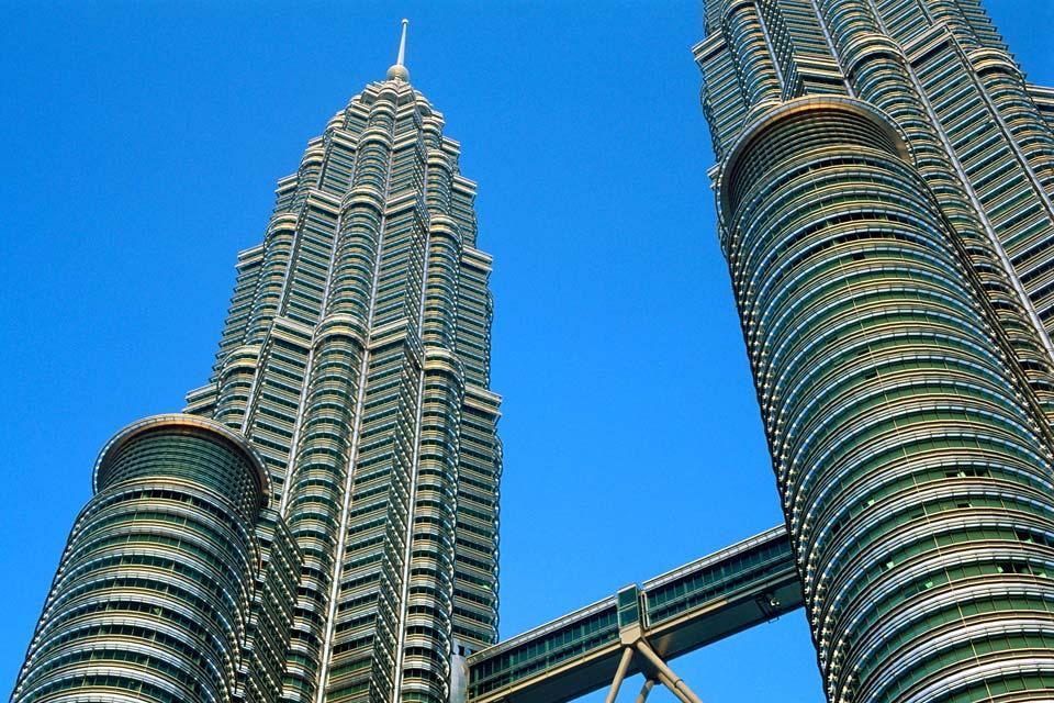 Les tours Petronas , La hauteur des tours , Malaisie