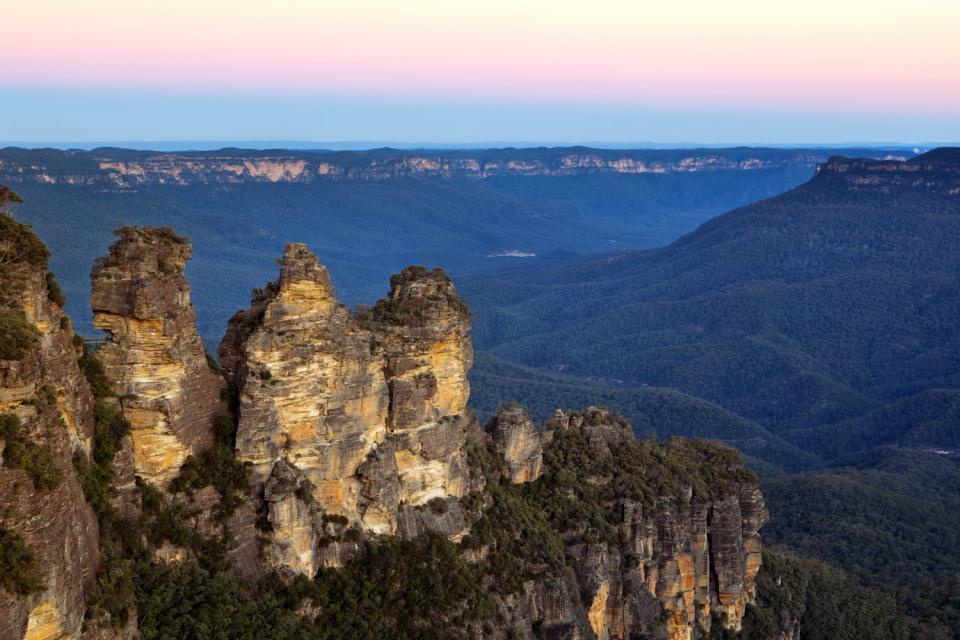 Südaustralien , Die Blue Mountains (Blauen Berge) , Australien