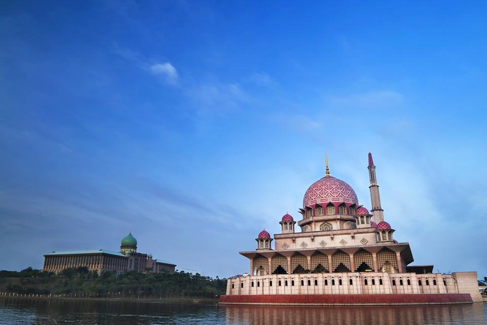Putra Mosque , Le minaret de la mosquée , Malaisie
