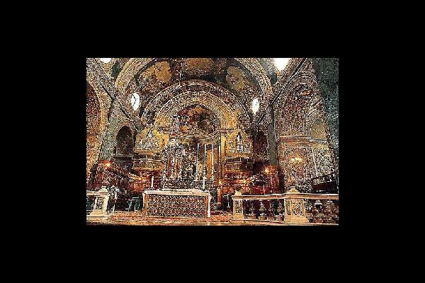 La catedral de San Juan , La catedral de San Juan, La Valeta , Malta