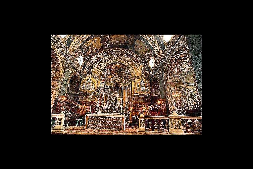 La cattedrale di San Giovanni , La cattedrale di San Giovanni, La Valletta , Malta