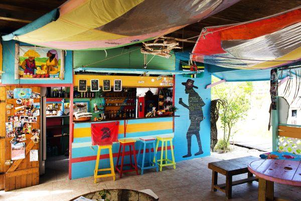 Try the local cuisine, Feuillere beach, Coasts, Marie-Galante