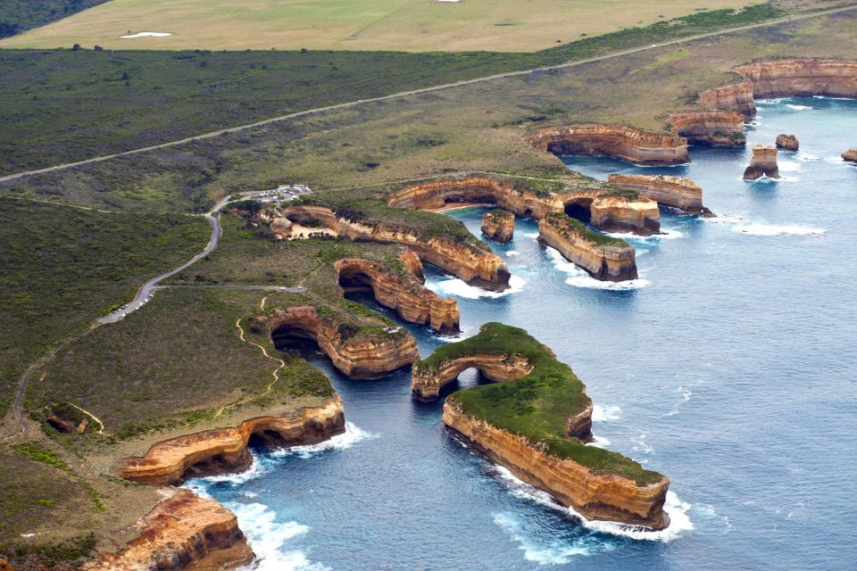 La Great Ocean Road (côte Sud) , La construction de la Great Ocean Road , Australie