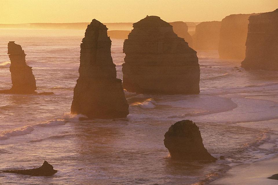 La Great Ocean Road (côte Sud) , Les falaises de Victoria , Australie