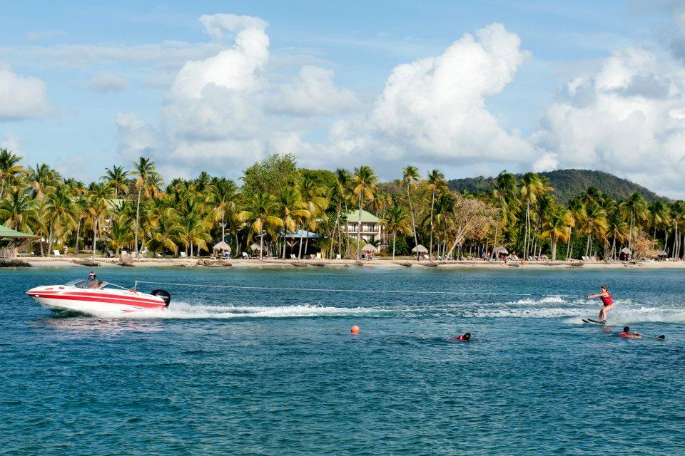 La plage de Sainte-Anne , Coucher de Soleil à Saint-Anne , Martinique